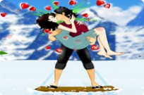 Play Kiss While Skiing game
