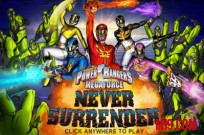 Lecture Power Rangers Megaforce: Never Surrender jeu