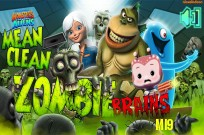 Play Monsters Vs. Aliens: Mean Clean Zombie Brains game