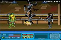 Bermain Teenage Mutant Ninja Turtles - Foot Clan Jalan Brawl permainan