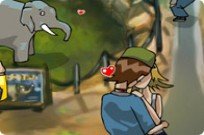 Play Kissing At The Zoo game