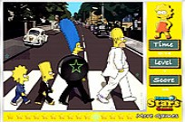The Simpsons Invisible Stars Game