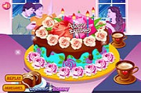 Play Flower Cake Decoration game
