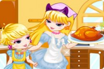 Play Turkey Cooking With Mom game
