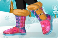 Play Dress My Snow Boots game