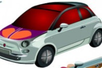Play Fiat 500 Makeover game