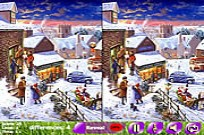 Play Winter Night 5 Differences game
