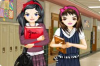 Play Best Friends In High School Dress Up game