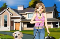 Play The Pretty Dog Walker game