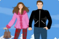Winter Love Story Dress Up Game
