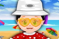 Play Cute Baby On The Beach game