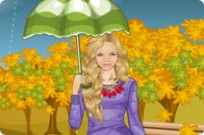 Play Rainy Fall Dress Up game