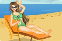 spielen Strand Doll Dress Up Spiel