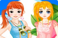 Play Rose Sisters Dressup game