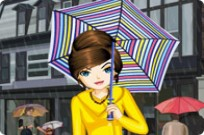 Play Rainy Day Dress Up game