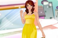 Play Ht83 Yellow Fashion Dress Up Game game