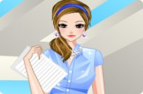 Play Secretary Girl Dress Up game