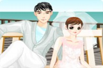 Play Beach Couple Dressup game