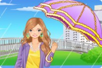 Play Umbrella Time Dress Up game