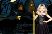 Play Strangely Beautiful Witch Dress Up game