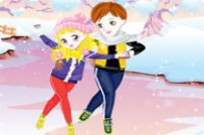 Play Skating Cute Couple Dress Up game
