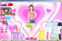 Play Hearts And Dots Dress Up game