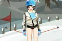 Play Skiing Girl Dress Up game