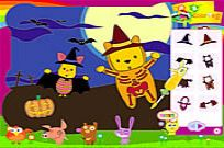 Play Piglet And Pooh On Halloween game