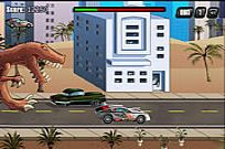 Play T-rex Rampage: Prehistoric Pizza game