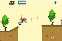 Bart Simpsons Bike Game