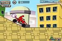 Spelen Power Rangers Dino Red Atv spel