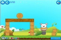 Play piggy landing game