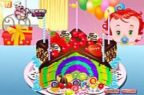 Play Rainbow Clown Cake game
