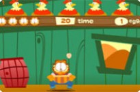Play Garfield Coop Catch game
