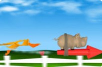Play Pig On The Rocket game