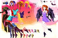 Play Leane Angel Dressup game