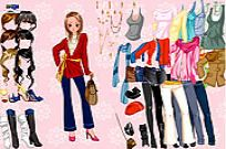 Play Pink Flower Dress Up game