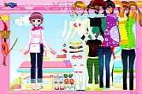 Play Happy Pink Dressup game
