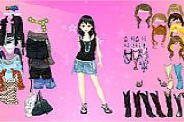 Play Pink Star Dress Up game