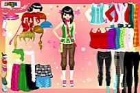 Play Fashion House Dress Up game