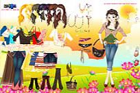 Play Flower Field Dress Up game