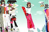 Play Hot Snow Skiing Apparel game