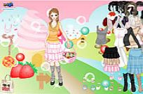 spielen Candy Land Dress Up Spiel