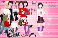 Play Cartoon Print Dressup 2 game