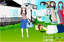 Play Summer Garden Dress Up game