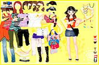 Spelen Yellow Casual Dress Up spel