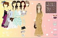 Play Chique Gown Dress Up game