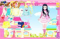 spielen Pink Hearts Dress Up Spiel