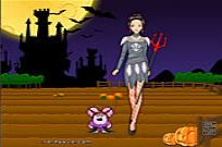 Play Barbie In Halloween game