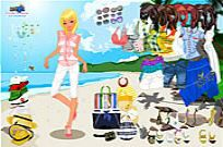 Play Celeste Beach Dressup game